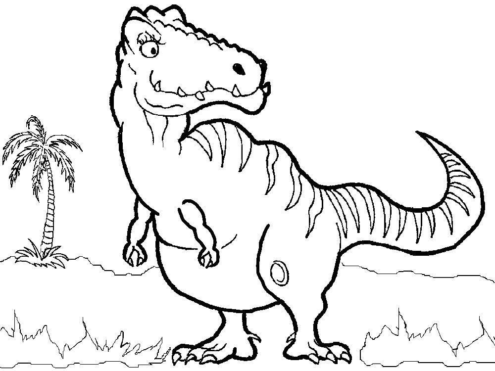 Раскраски для детей 4 лет динозавры