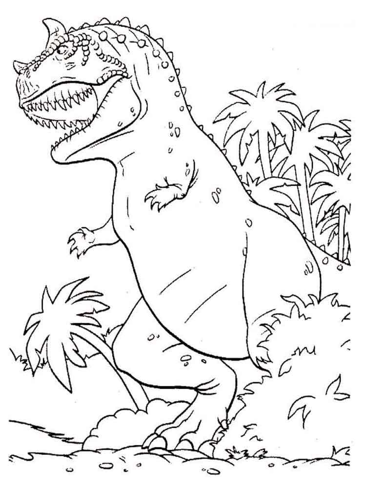 Рисунки динозавров для раскраски