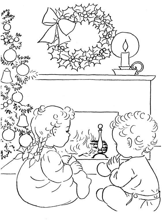 рождество раскраска для детей