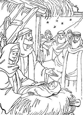 рождество раскраска православные