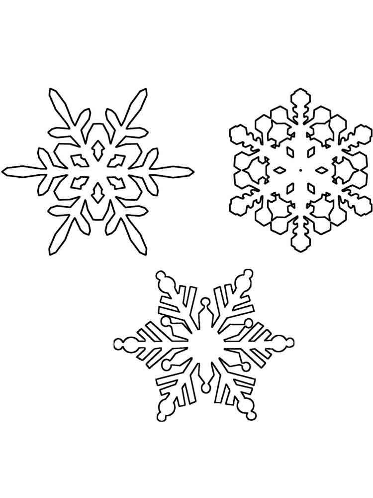 скачать снежинки раскраски