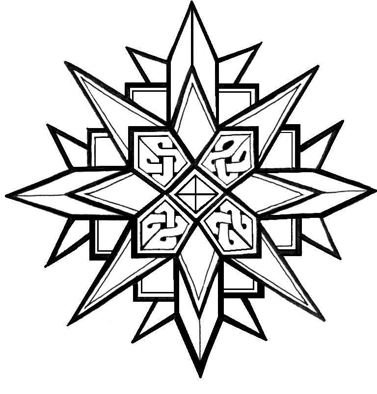 снежинка раскраска для детей