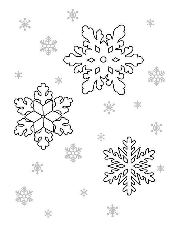 снежинки картинки раскраски