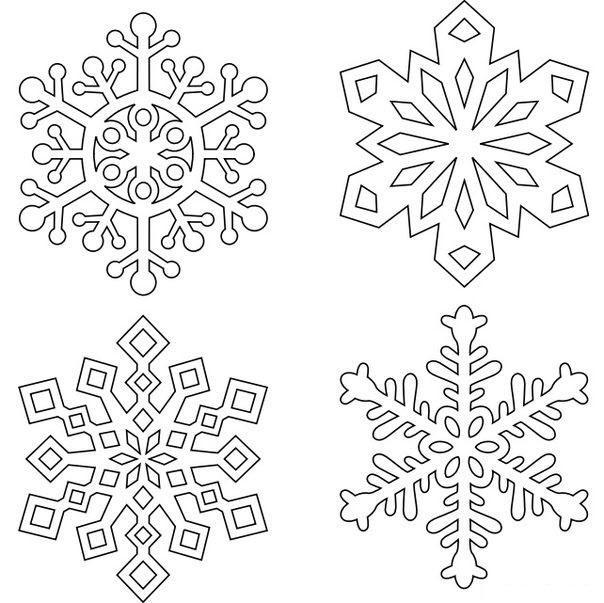 снежинки раскраски для детей распечатать