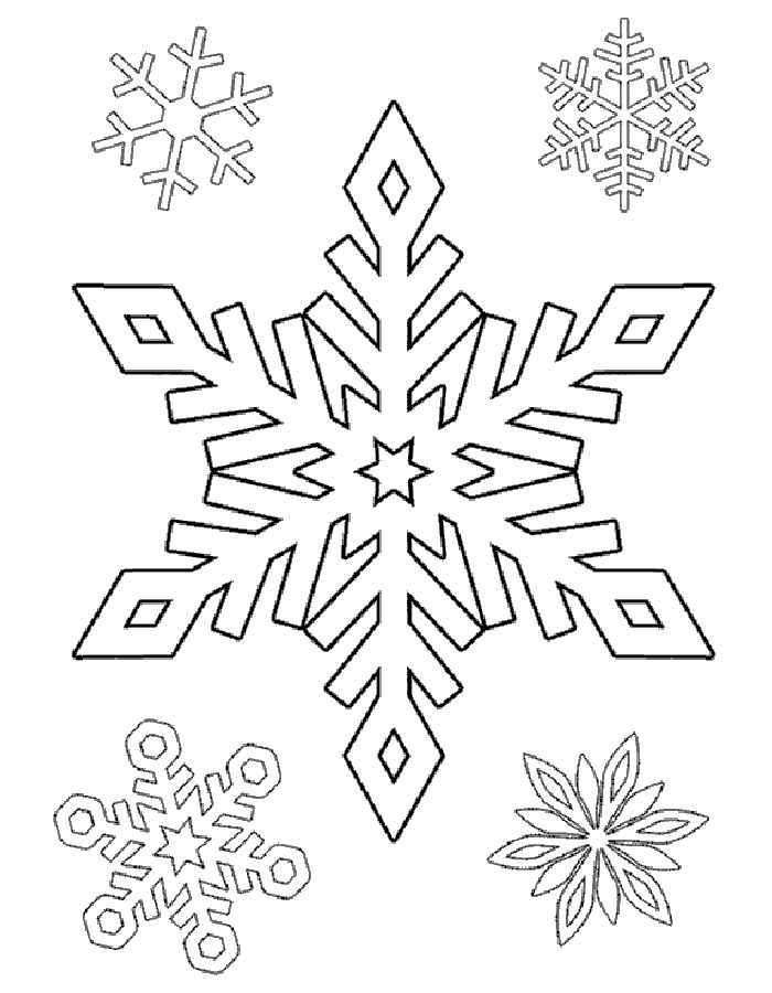 снежинки раскраски распечатать