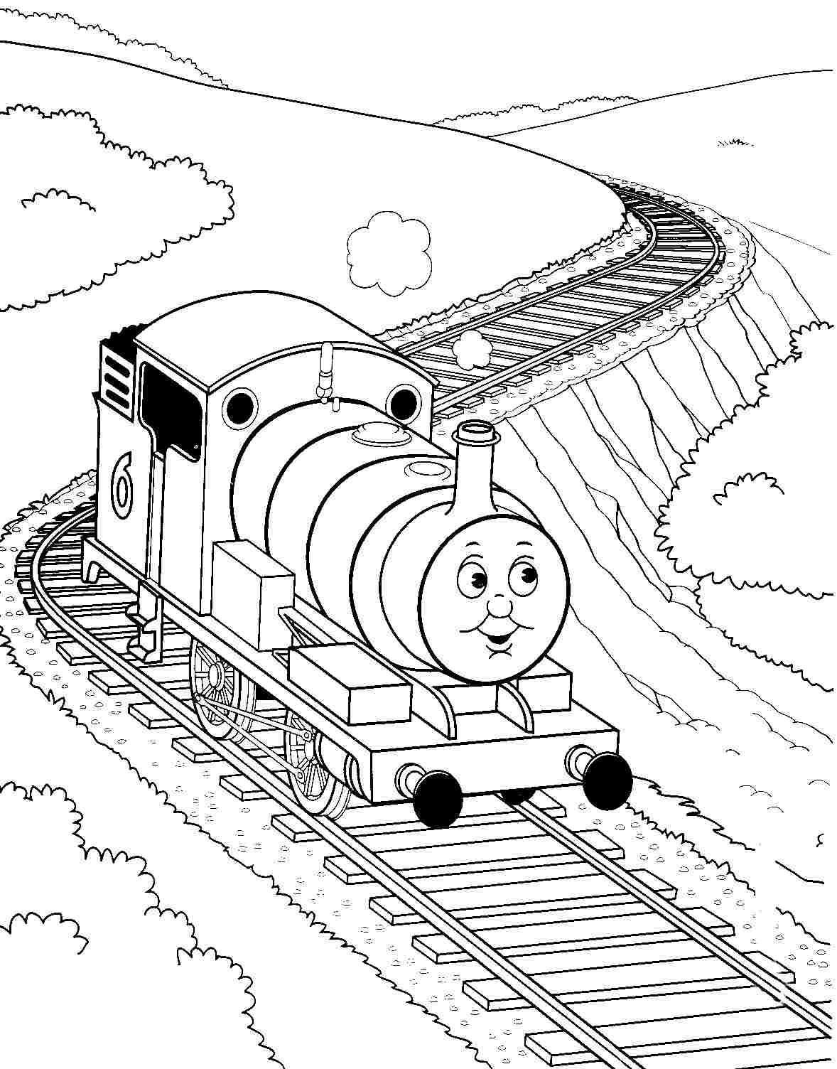 Томас едет по рельсам