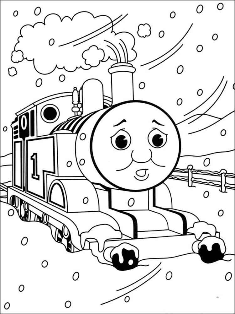 Томас застрял в снегу