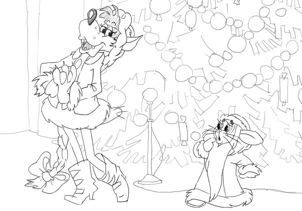 Заяц и волк Новый год