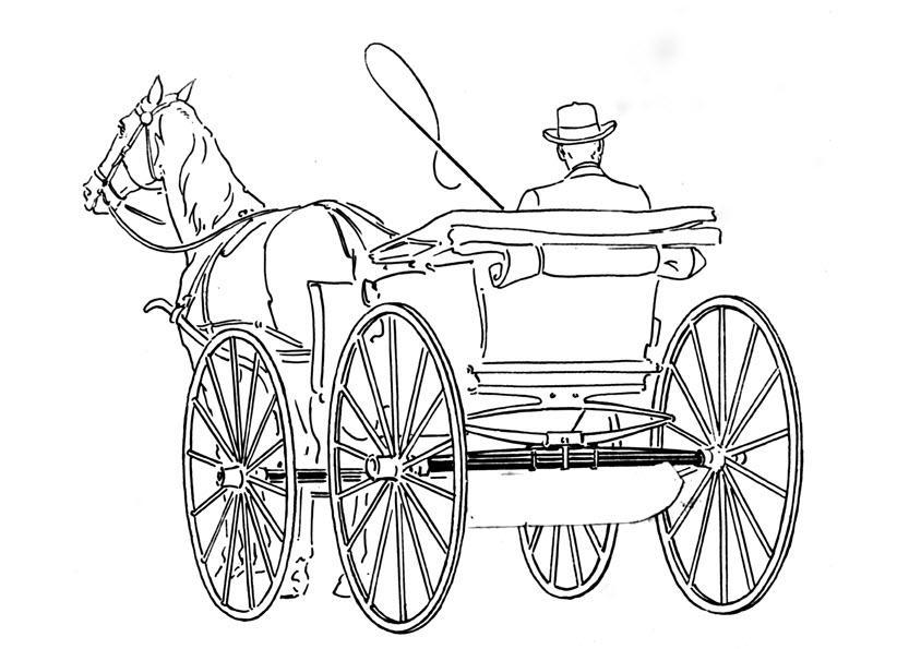 Рисунок тройка лошадей с санями карандашом коррекции