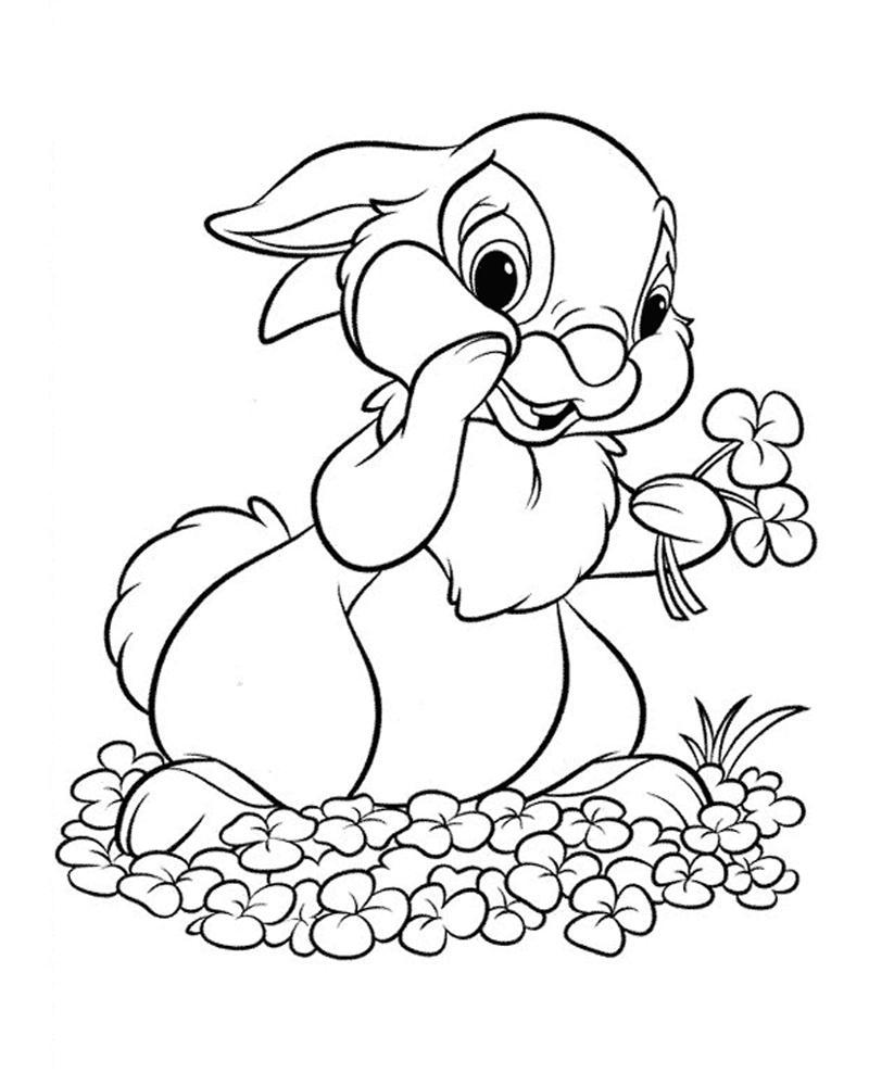 раскраска зайца распечатать бесплатно