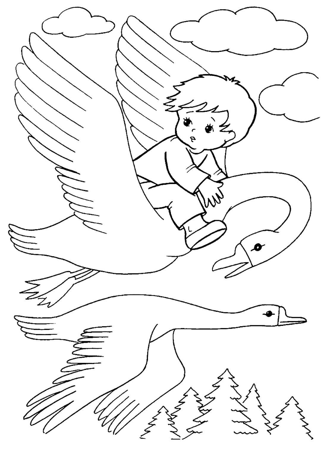 Сказка гуси лебеди иллюстрации рисунки