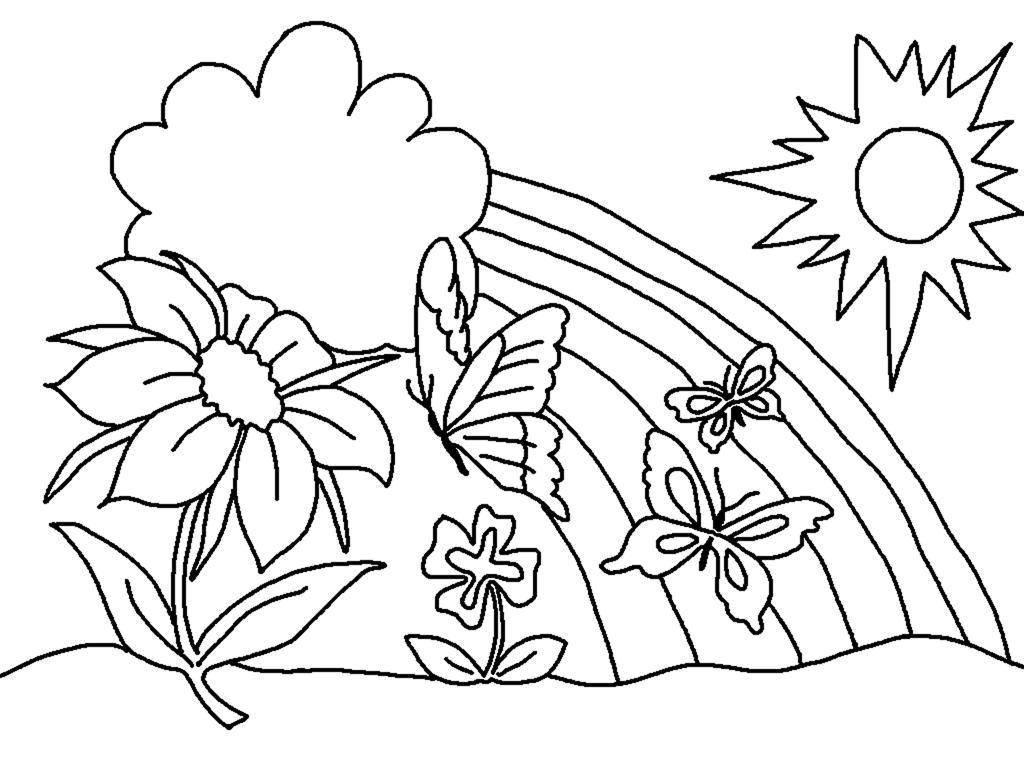раскраска лето для детей 4 года распечатать
