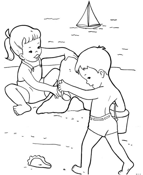 раскраска лето для детей 5 6 лет