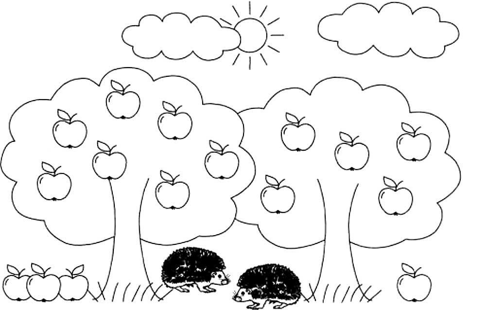 раскраска лето природа для детей