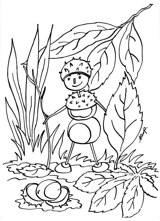 раскраска осень для детей 7 лет распечатать