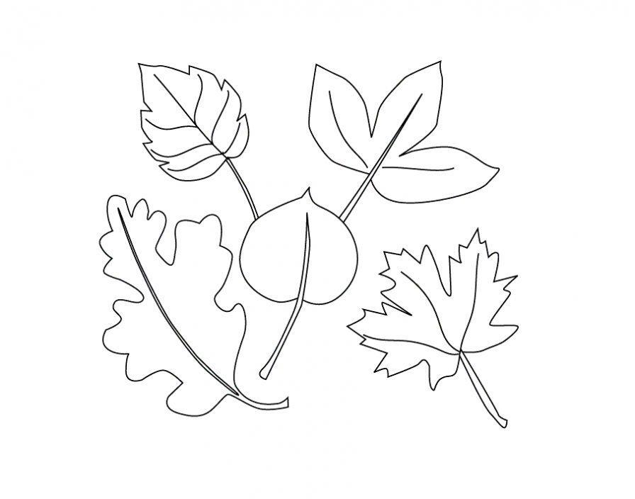 раскраска осень для малышей распечатать