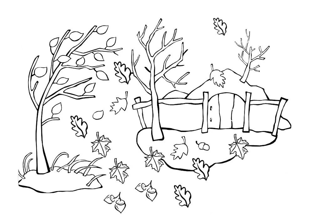 раскраска осень распечатать