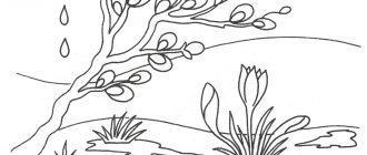 раскраска весны природа весенняя капель распечатать