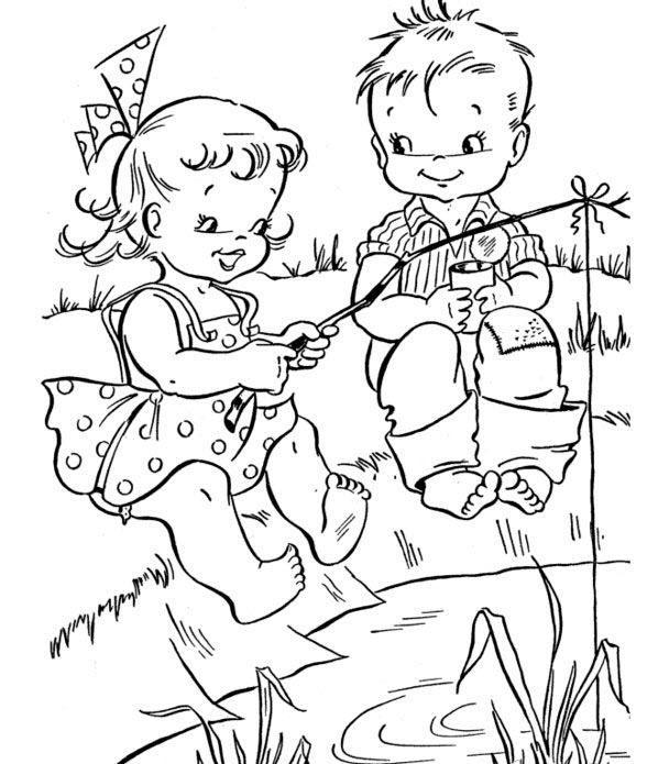 раскраски для детей 7 лет лето распечатать