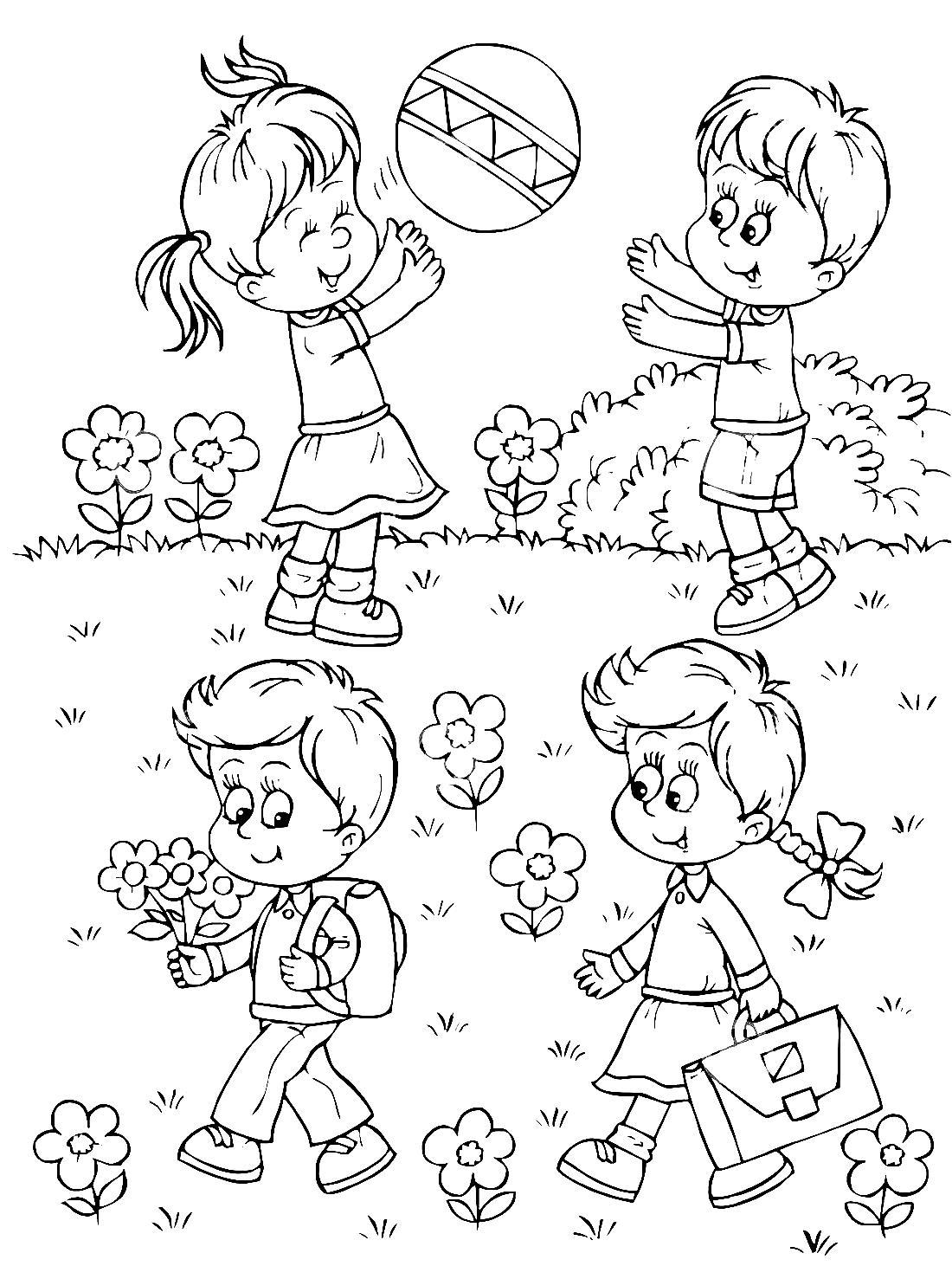 раскраски для детей про лето распечатать