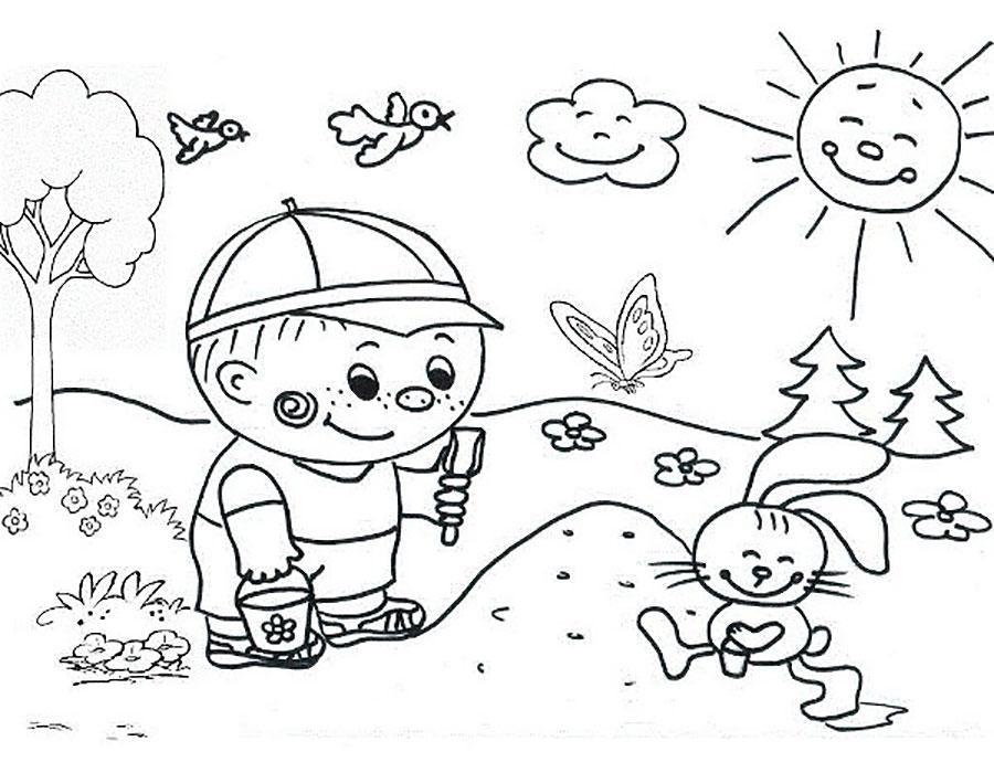 раскраски на тему лета для детей