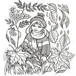 раскраски на тему осень распечатать