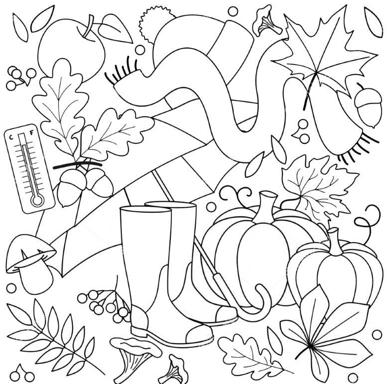 раскраски осень для детского сада распечатать