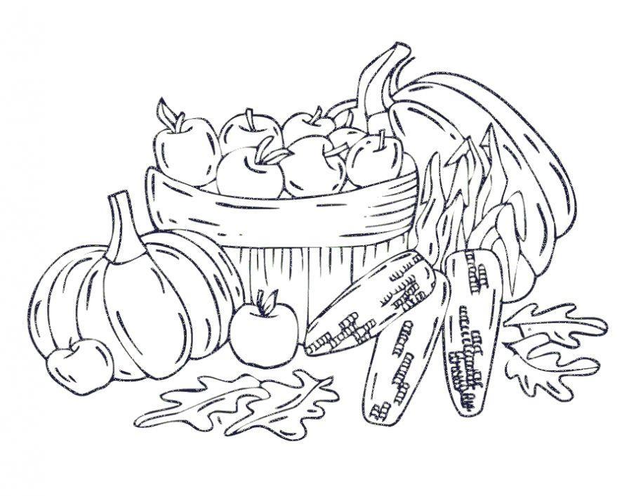 раскраски осень урожай распечатать