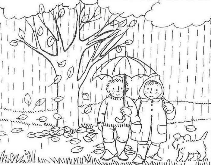 раскраски осень золотая для детей распечатать