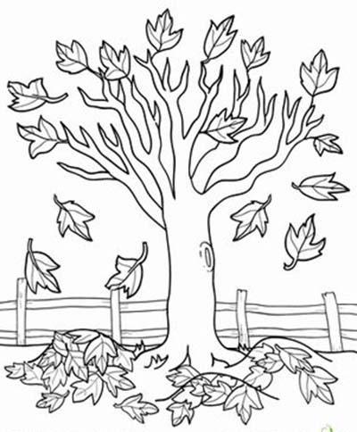 рисунок осень раскраска распечатать