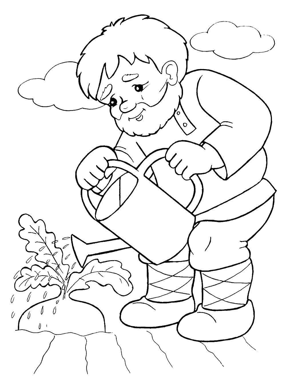 Раскраска сказка Репка для детей распечатать бесплатно ...