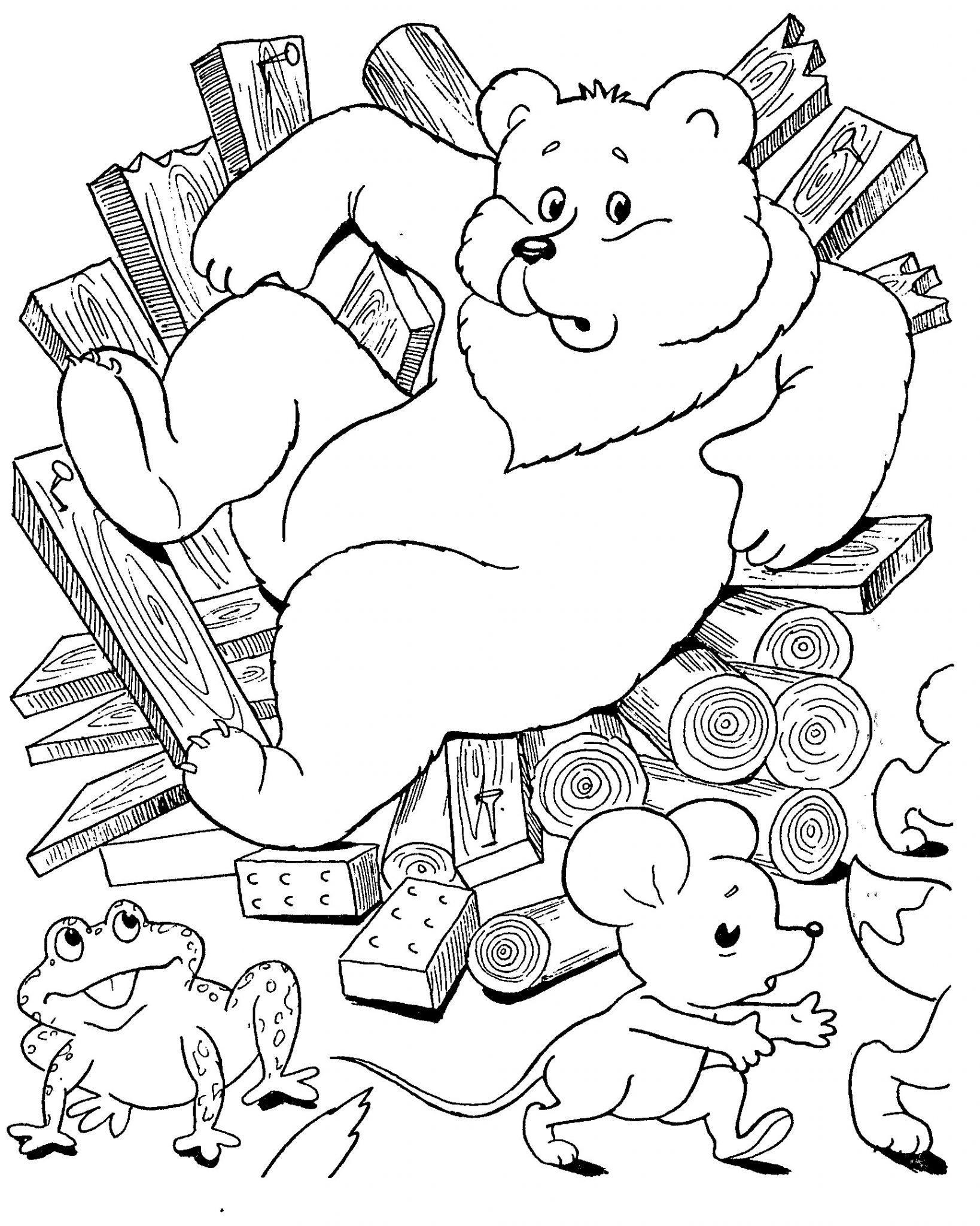 сказка теремок раскраска для детей распечатать бесплатно формат а4