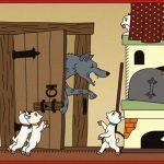 раскраска волк и семеро козлят из сказки для детей распечатать бесплатно скачать