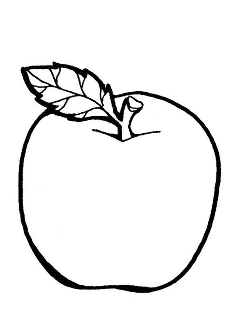 Раскраска яблоко распечатать бесплатно скачать