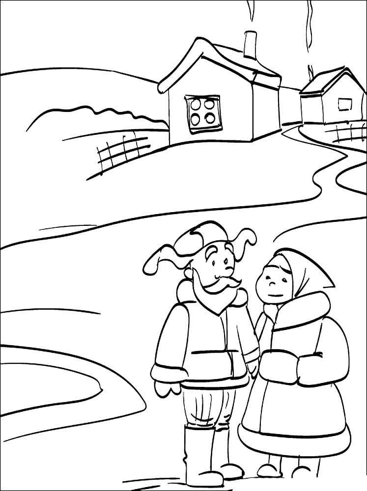 сказка снегурочка раскраска для детей распечатать