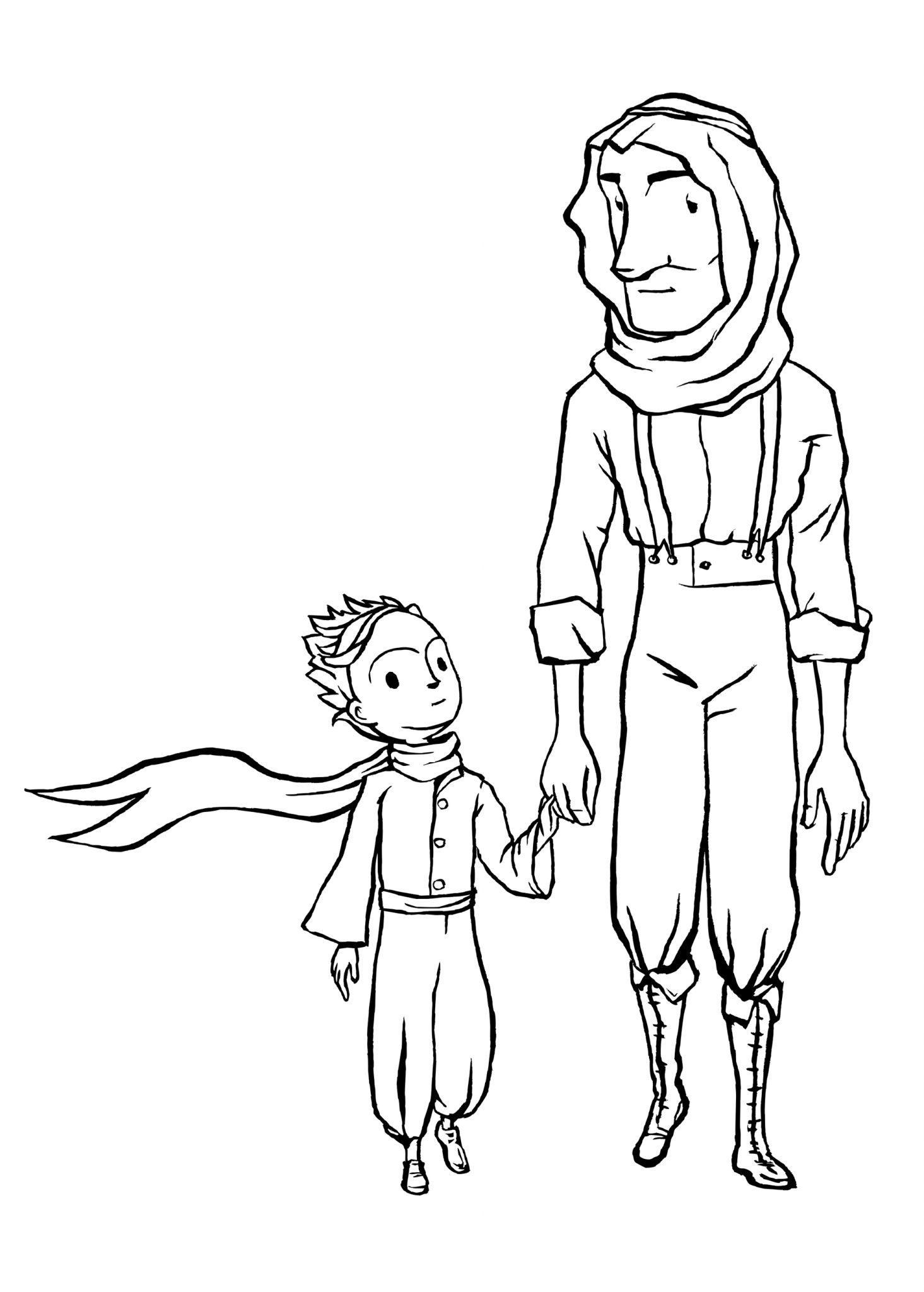 детские раскраски маленький принц распечатать