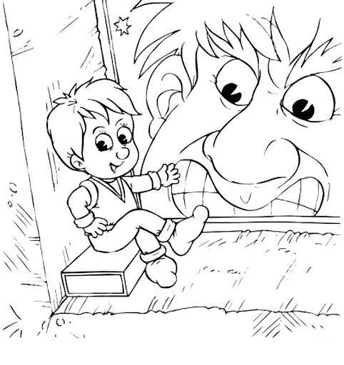 мальчик с пальчик раскраска для детей распечатать