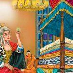 принцесса на горошине раскраска для детей из сказки Андерсена