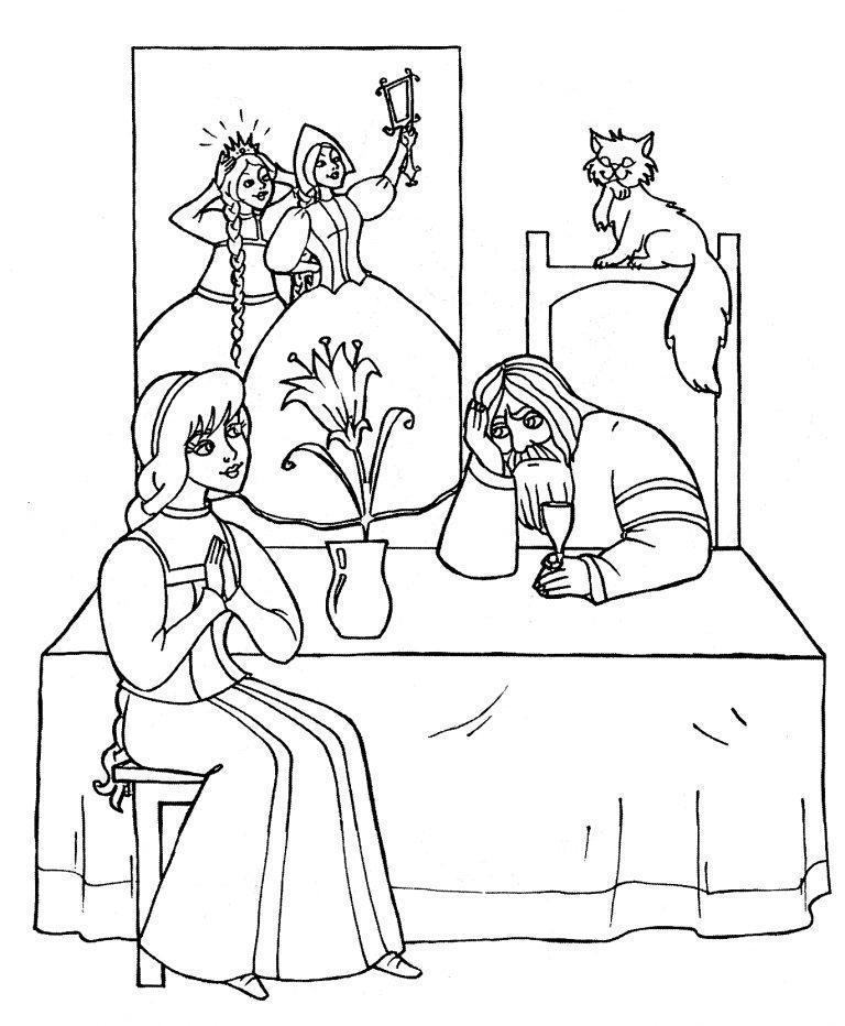 картинка к сказке аленький цветочек легкая для начинающих рисовать