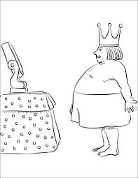 раскраска новое платье короля по сказке андерсена