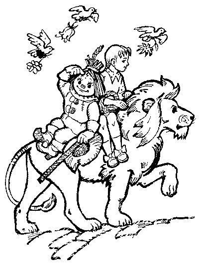 трусливый лев страшила волшебник изумрудного города раскраска распечатать