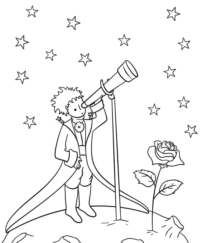 раскраски для девочек маленький принц распечатать