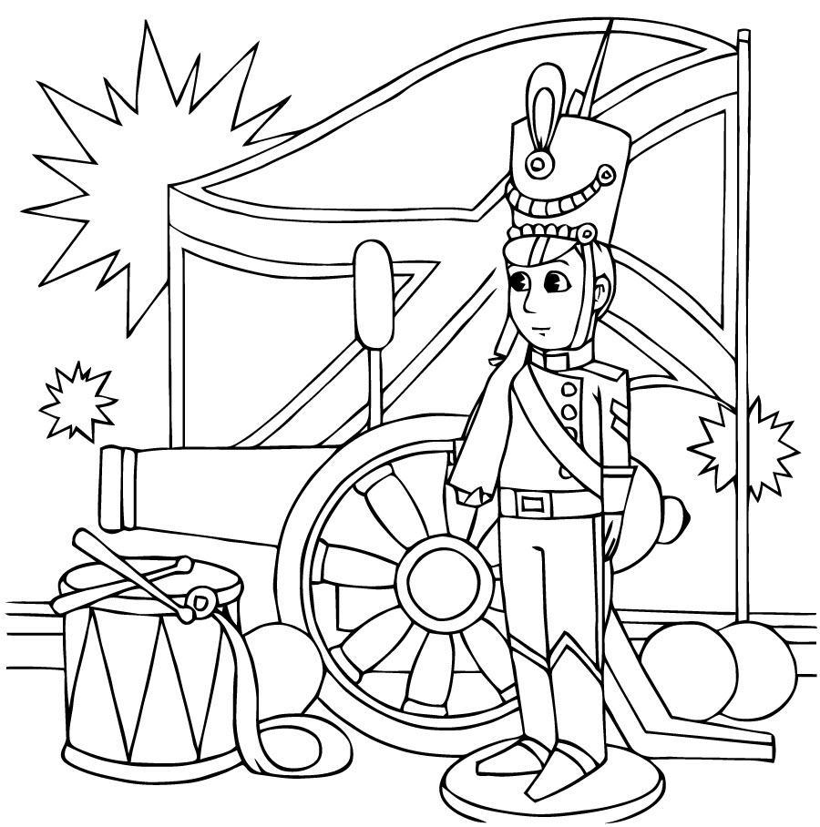 раскраски стойкий оловянный солдатик распечатать