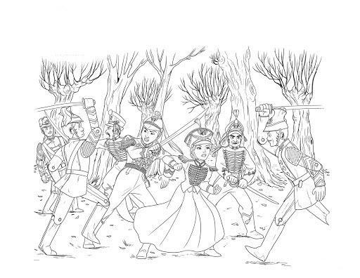 щелкунчик и четыре королевства раскраски распечатать
