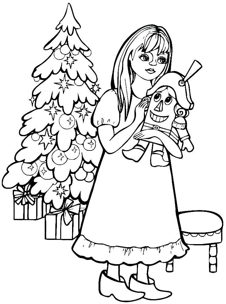 щелкунчик и мышиный король раскраска для детей распечатать бесплатно