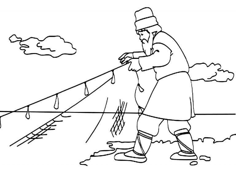 картинка про золотую рыбку и рыбака пушкина