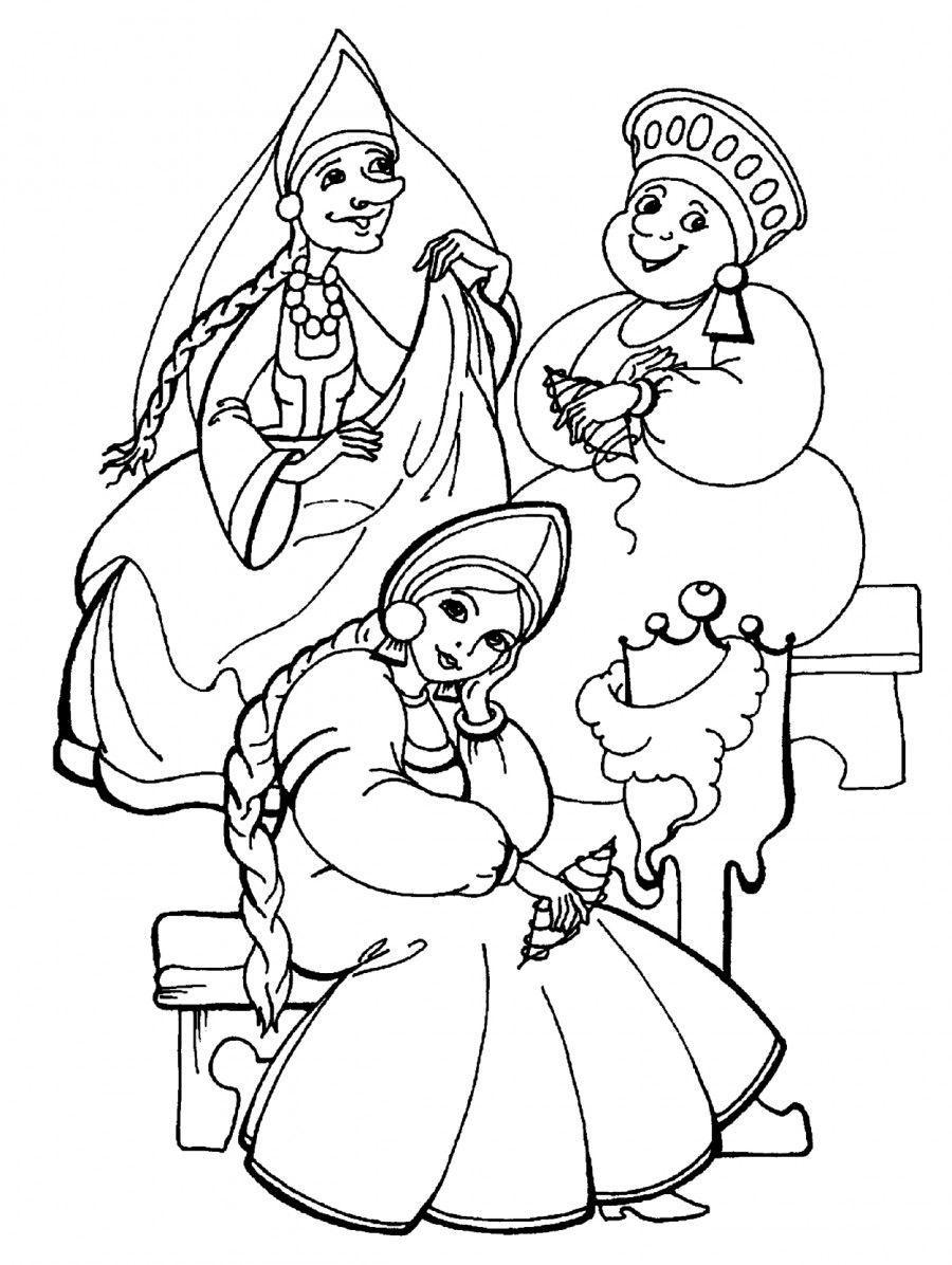 сказка о царе салтане для детей распечатать