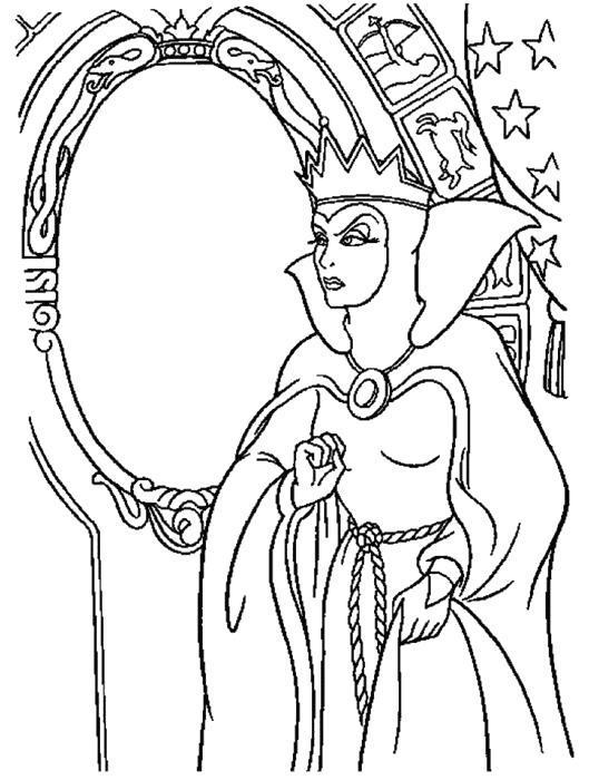 снежная королева рисунок раскраска портрет распечатать бесплатно