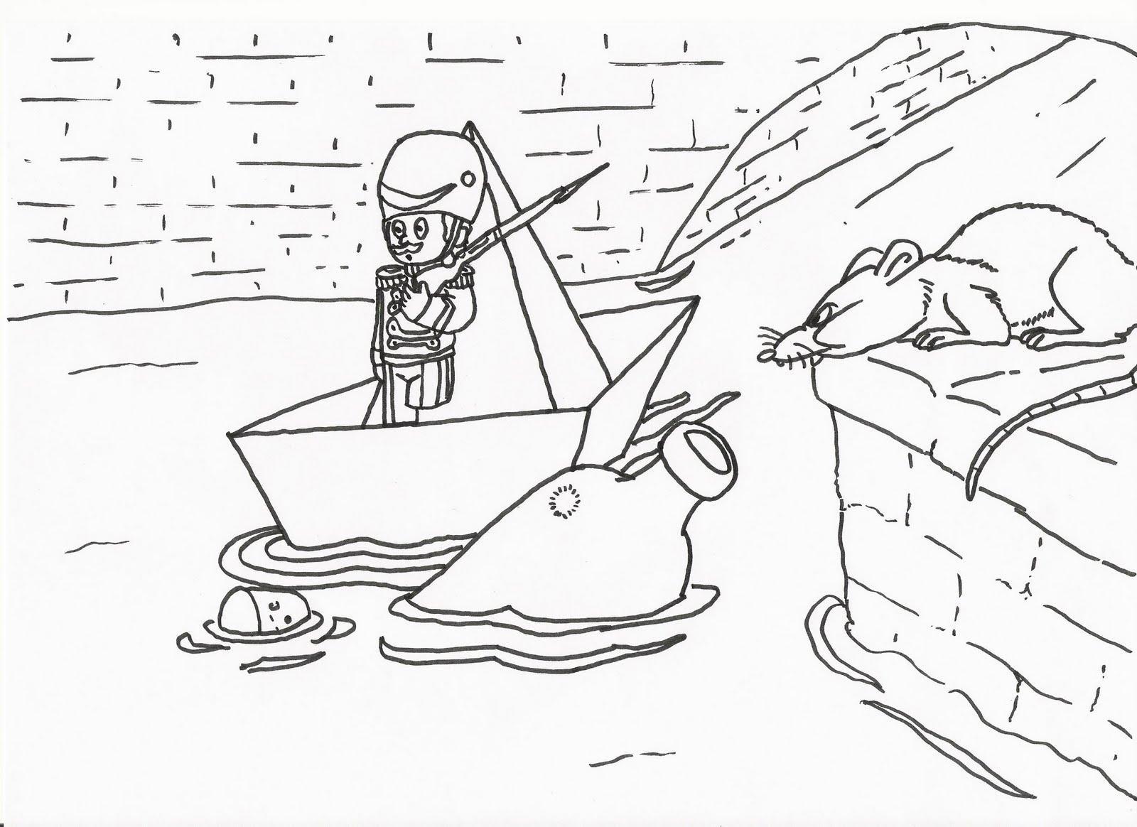стойкий оловянный солдатик раскраска по cказке Андерсена для детей распечатать