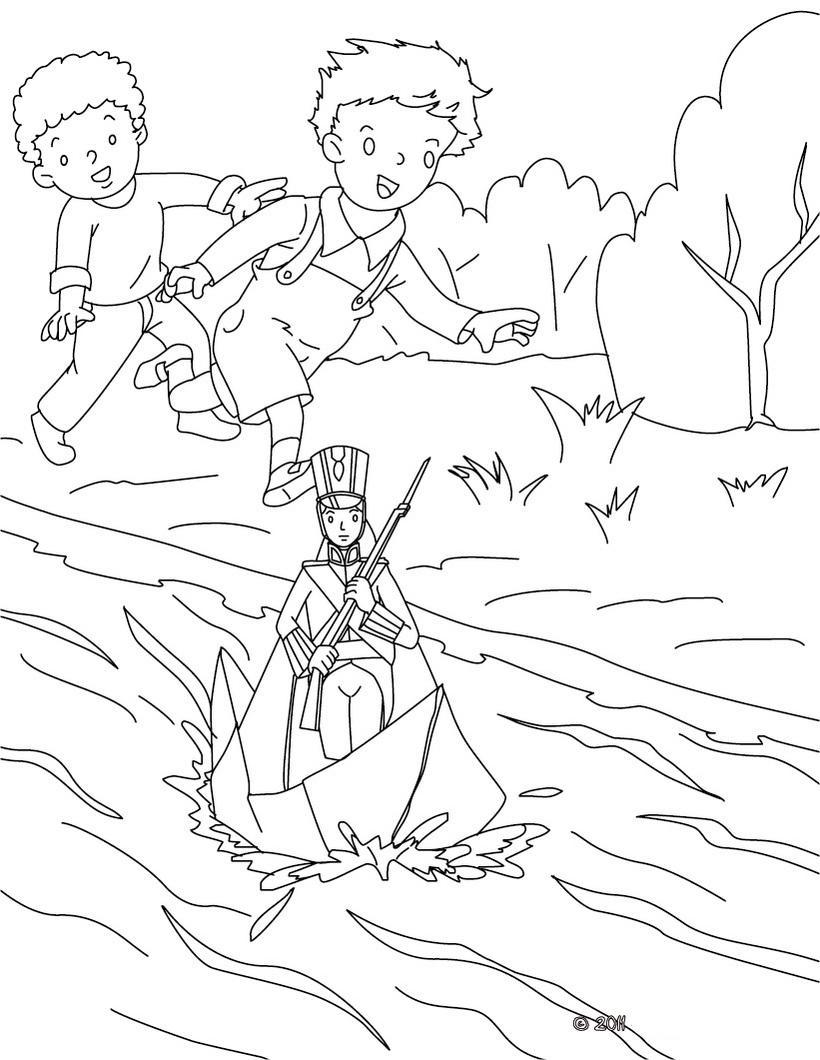 стойкий оловянный солдатик раскраска для детей распечатать